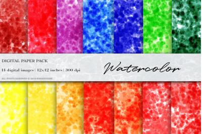 Watercolor ink Digital Papers, Watercolor Background