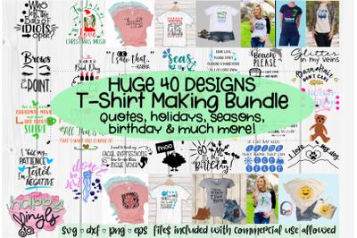 HUGE T-SHIRT MAKING BUNDLE - A 41 Design SVG Bundle