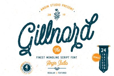 Gillnord Monoline Script (extras illustration)