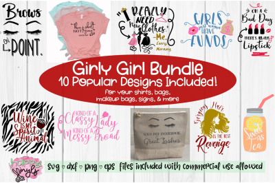 Fun Girly Girl Bundle - Fun SVG Bundle for Girls