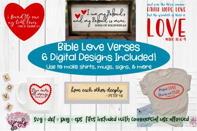 Bible Love Verses - A Bible Verse SVG Bundle