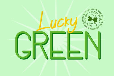 Lucky Green Font Duo