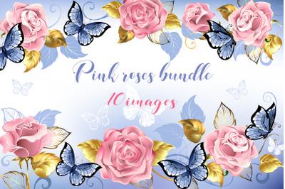 Pink Roses Bundle