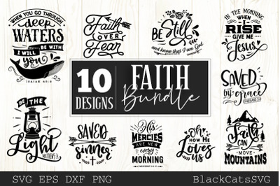 Faith SVG bundle 10 designs Christian SVG bundle