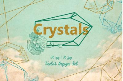 Magic Crystals Vector Design Set