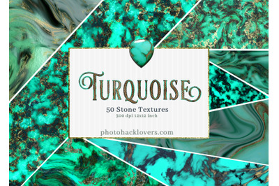 50 Turquoise Digital Papers