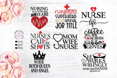 Nurse SVG - Nursing Quotes Bundle