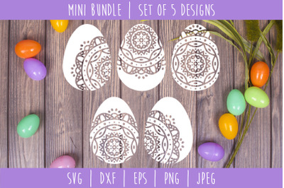 Mandala Easter Egg Bundle - Set of 5