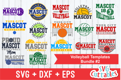Volleyball Template Bundle 2 | Cut File