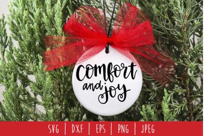 Comfort and Joy SVG, DXF, EPS, PNG, JPEG