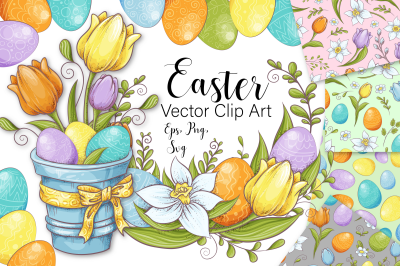 Easter  vector clip art