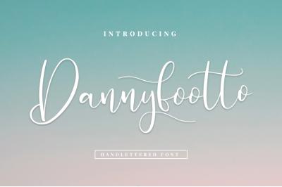 Dannyfootto///handlettered font