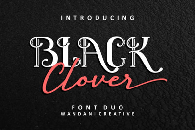 Black Clover | Font Duo