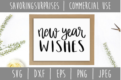 New Year Wishes SVG, DXF, EPS, PNG, JPEG
