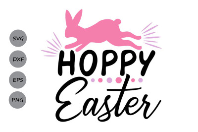 Hoppy Easter SVG, Easter svg, Happy Easter svg, Easter Bunny svg.