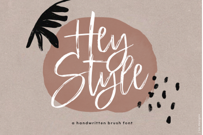 Hey Style - Handwritten Brush Font