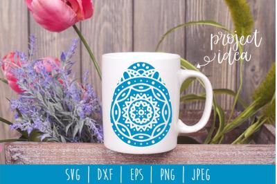 Mandala Easter Egg SVG, DXF, EPS, PNG, JPEG
