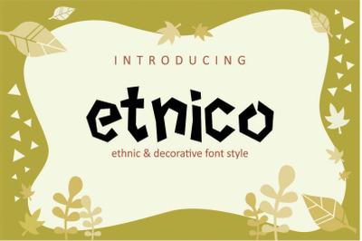 ETNICO - Decorative Font