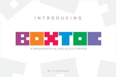 BOXTOC - Unique Box Font Style