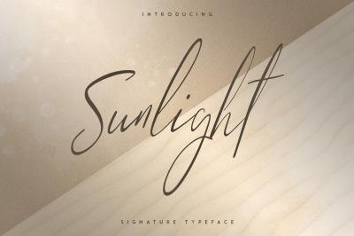 Sunlight - Signature typeface