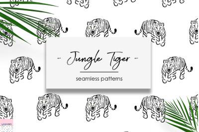 Jungle Tiger - Seamless Patterns