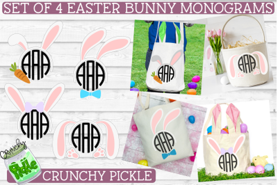 Easter Monograms Mini SVG Bundle