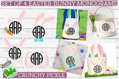 Easter Monograms Mini SVG Bundle