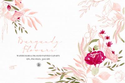 Burgundy Flowers