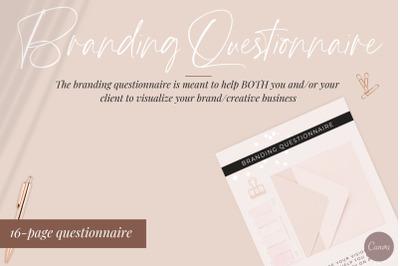 Branding Questionnaire - Canva