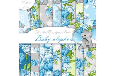 Baby elephant paper