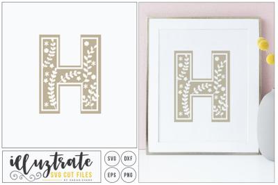 Letter H SVG Alphabet - DXF cut files - Vector Clipar