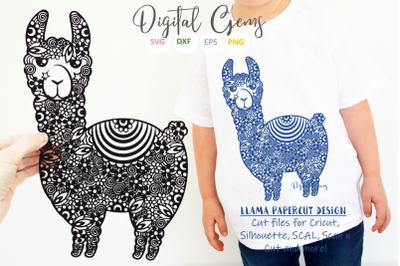 Llama papercut design