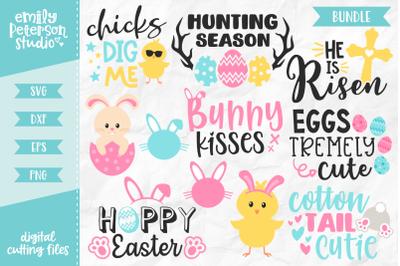 Easter Bundle SVG DXF - 11 Designs