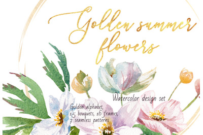 Golden summer flowers