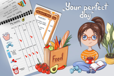 """""""Perfect day"""" planning set"""