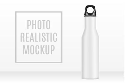 Mockup Metal Bottle