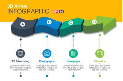 3D Vector Arrow Infographics