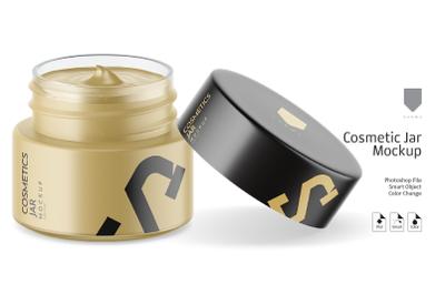Cosmetic Matte Jar Mockup 4