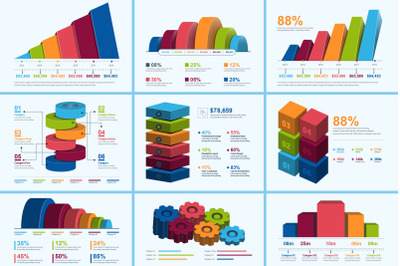 3D Business Infographic Elements