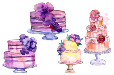 Cakes Yummy Watercolor png