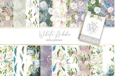 Watercolor floral boho backdrop