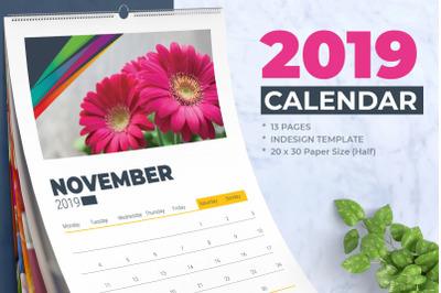 2019 Wall Calendar / Planner