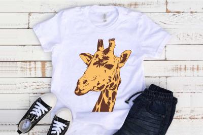 Giraffe Head SVG Mandala wild life africa baby shower Animal 1298S