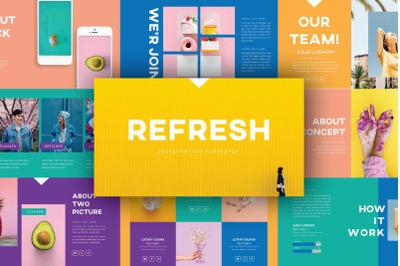REFRESH Powerpoint Template