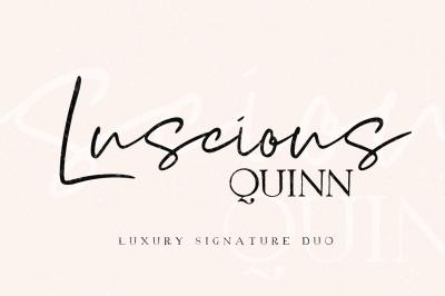 Luscious Quinn Font Duo