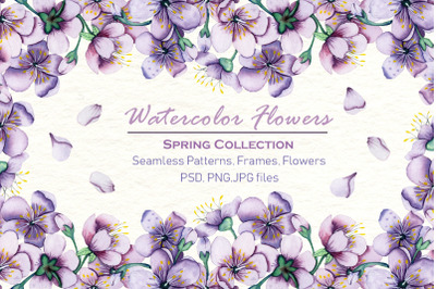Watercolor Flowers - Spring Collection