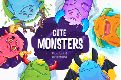 Cute Monsters Pack