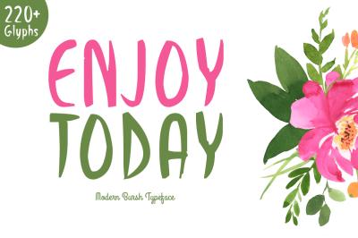 Enjoy Today Typeface