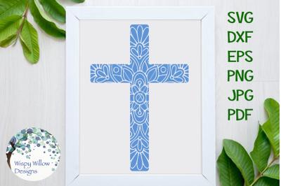 Christian Cross Mandala SVG