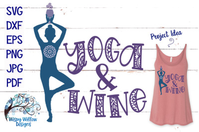 Yoga and Wine SVG